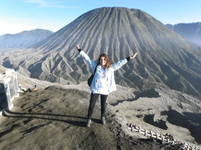 ¡Llegué al cráter! Volcán Bromo. Indonesia.